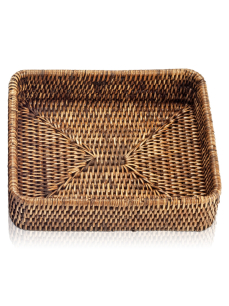 DECOR WALTHER BASKET TAB 1 tacka rattan ciemny