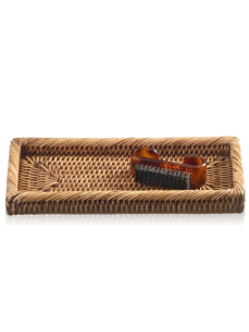DECOR WALTHER BASKET KS tacka rattan ciemny