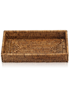 DECOR WALTHER BASKET TAB 2 tacka rattan ciemny